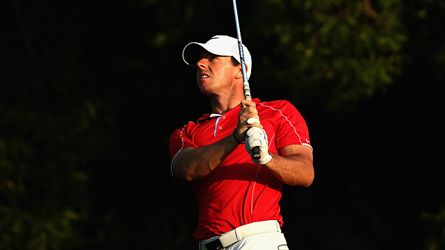 Rory McIlroy fired a 66 in the first round in Dubai.