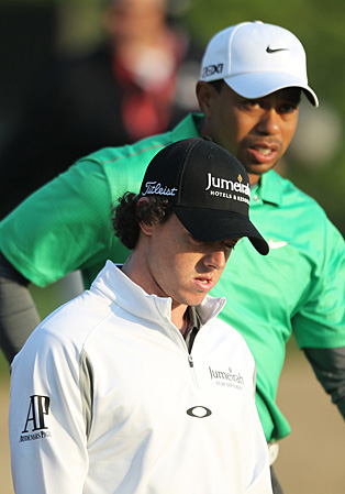 McIlroy and Woods played together on Thursday.