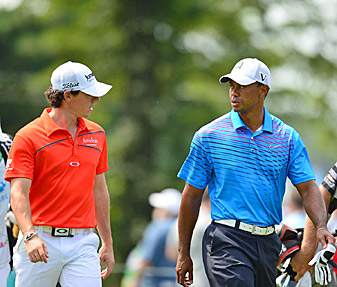 The new rivalry between Tiger Woods and Rory McIlroy kept golf fans entertained in 2012.