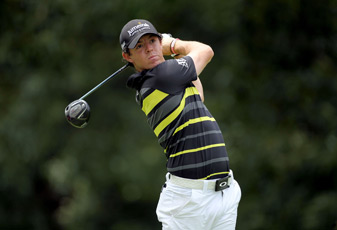 Rory McIlroy birdied 18 to finish one stroke off the lead.