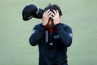 Rory McIlroy only made one birdie on Thursday.