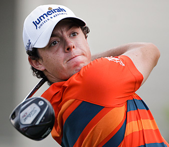 Rory McIlroy birdied three of the last four holes to take the lead.