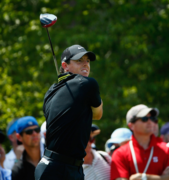 Rory McIlroy struggled all day at Pinehurst No. 2 Saturday, especially on the front-nine where he carded a 40.