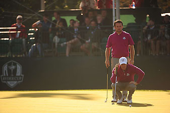 Rory McIlroy and Graeme McDowell at the 2012 Ryder Cup at Medinah.