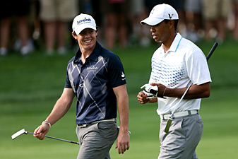 Tiger Woods and Rory McIlroy finished tied at -12.