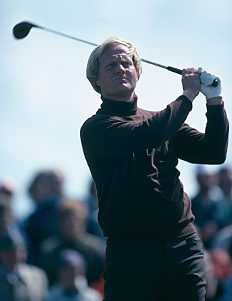 Jack Nicklaus at the 1979 Open Championship at Royal Lytham & St. Annes.