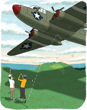 What happens if your ball hits a low-flying plane? The Rules Guy has the answer.