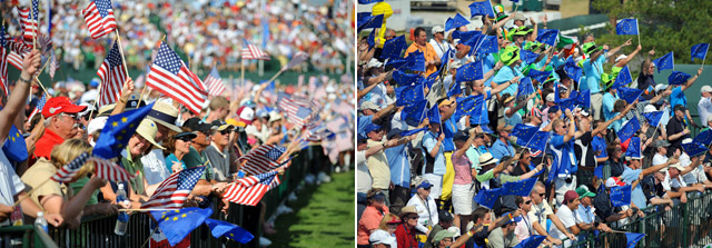 Fans for both sides will be out in full force at Medinah.