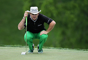 Rory Sabbatini made five birdies and two bogeys Friday.