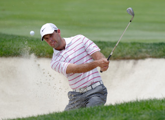Charl Schwartzel closed his second round Saturday morning with birdies on 17 and 18.