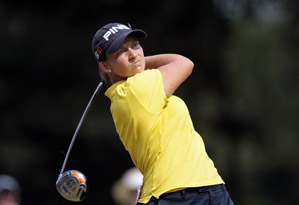 Angela Stanford made four straight birdies on the back nine.