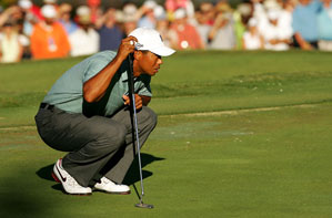 Tiger Woods made seven birdies and one bogey.