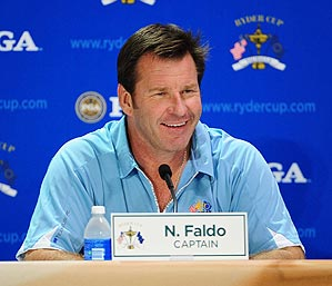 """""""Today was Day One,"""" Faldo said. """"Just get out there and play, get themselves acclimatized."""""""