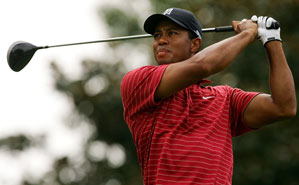 Tiger Woods finished at 23 under par.