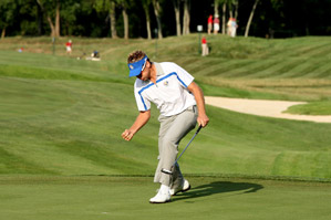 Ian Poulter and Justin Rose won their match after losing in the morning.
