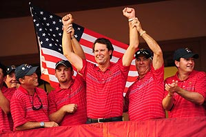 Azinger (center), who asked for more captain's picks and revised qualifying criteria, set the win-the-point, no‑crying-in-public tone that distinguished the U.S. team.