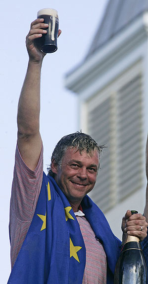 Darren Clarke led Europe to victory in 2006 in his home country just weeks after his wife passed away.