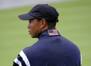 Tiger Woods is known for his quiet demeanor inside the team room.