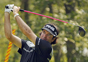 Bubba Watson made an eagle, six birdies and a bogey on Saturday.