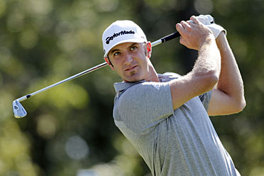 Dustin Johnson fired a six-under 66 in the first round in Sydney.