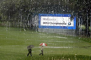 A steady rain washed out the BMW Championship at Bellerive Country Club on Thursday.