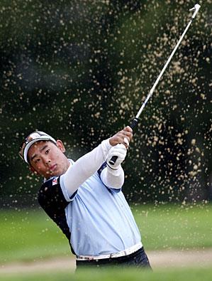 Tadd Fujikawa at the European Masters on Thursday.