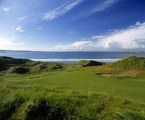 The 8th hole at Lahinch, on Ireland's west coast.