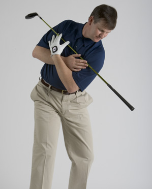 You've tilted and turned correctly if the shaft points toward the ball.