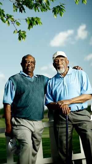 Lee Elder, 75, and Charlie Sifford, 87, in Savannah, Ga.