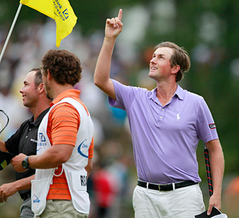 Webb Simpson captured one of his two 201 victories at the Deutsche Bank Championship.