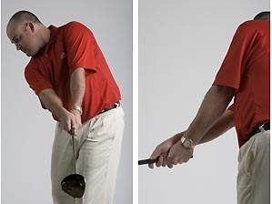 Rotate your forearms through impact. When a person behind you can tell the time on your watch, you've properly squared your clubface.