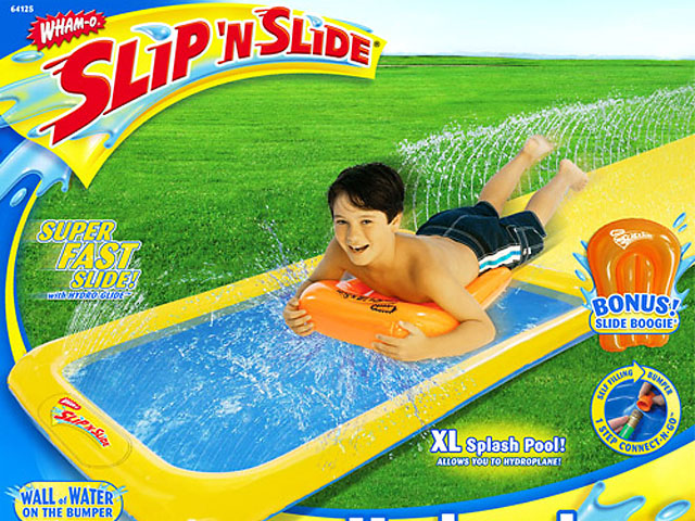 The elusive Slip'N Slide that Matt Kuchar couldn't find at two stories in the Louisville area during the PGA Championship. He injured his back while sitting in traffic.