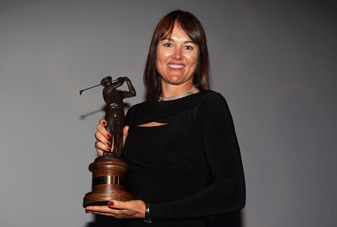 Sophie Gustafson won the Ben Hogan award during the Golf Writers Association of America dinnner Tuesday night.