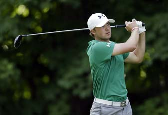 Jordan Spieth forced his way into the John Deere playoff by holing out of the bunker from 44 feet on the final hole of regulation.