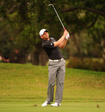 Sergio Garcia fell apart on the back nine, shooting a 44 coming in.