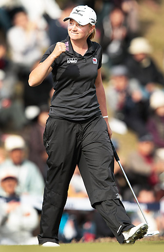 Lewis captured four wins in 2012 on her way to becoming the LPGA's Player of the Year.