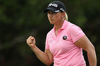 Angela Stanford made two birdies and no bogeys.
