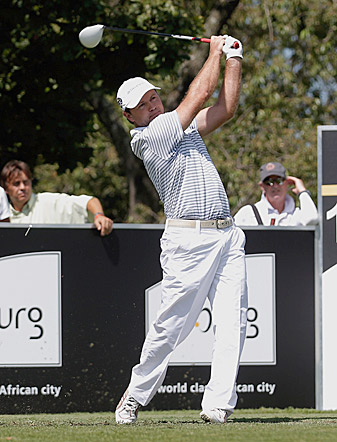 Richard Sterne is tied for the lead after a second-round 65.