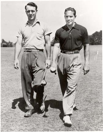 Frank Stranahan [right] with Arnold Palmer during Palmer's amateur days. Stranahan was runner-up to Palmer at the 1954 U.S. Amateur.
