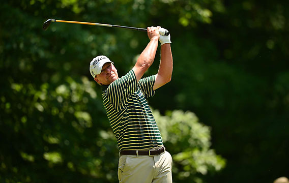 Stricker finished four shots off the lead on Sunday.