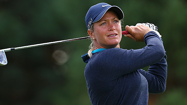 Suzann Pettersen trails by one after two rounds.