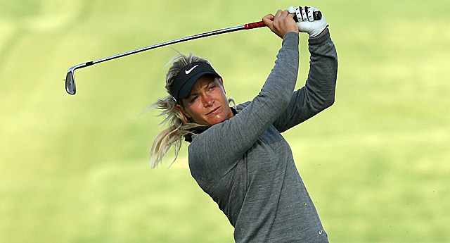Suzann Pettersen is in a three-way tie for the lead at the LPGA's first major of 2013.