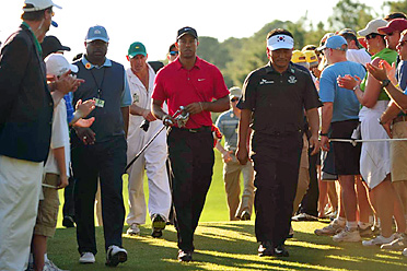 After a tumultuous offseason, Tiger Woods made his 2010 debut at the Masters.