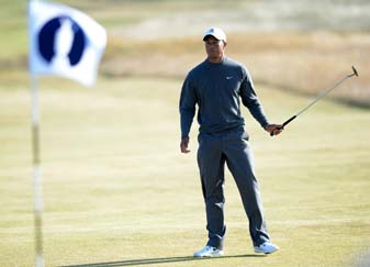 Tiger Woods will begin his Open Championship at 2:45 p.m. local time (9:45 a.m. Eastern) on Thursday.