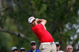 Michael Thompson birdied 18 to grab a share of the lead.