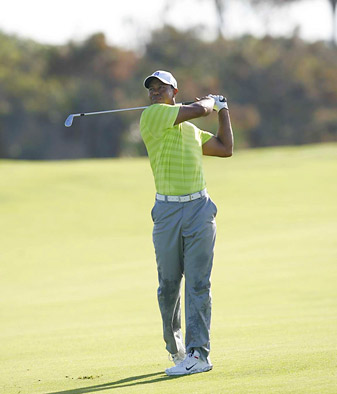 Woods shot a three-under 69 on Thursday.