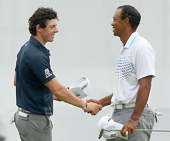 """Tiger Woods and Rory McIlroy's budding """"bromance"""" was in high gear at the Deutsche Bank Championship."""