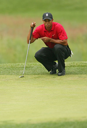 Tiger Woods during the final round at the 2009 AT&T National.
