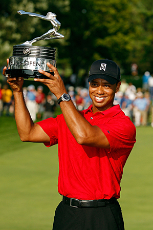 Tiger Woods won his third Buick Open trophy but will not get a chance to win another.