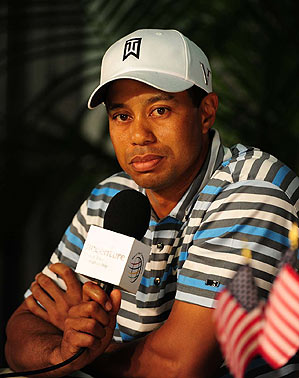 """""""I'm looking forward to the rush tomorrow, I really am, waking up tomorrow and getting ready for my round,"""" Woods said."""